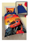 Blaze and The Monster Machines 'Zoom' Reversible Panel Single Bed Duvet Quilt Cover Set
