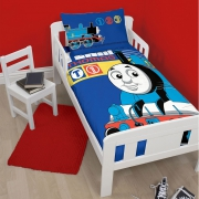 Thomas & Friends 'Team' Panel Junior Cot Bed Duvet Quilt Cover Set