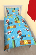 Super Mario 'Maker' Reversible Rotary Single Bed Duvet Quilt Cover Set