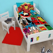 Marvel Comics Strike Panel Junior Cot Bed Duvet Quilt Cover Set