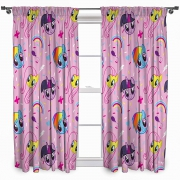 My Little Pony '' Equestria'' Pencil Pleat 66 X 72 inch Drop Curtain Pair