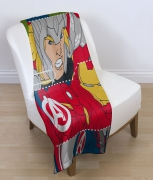 Avengers 'Tech' Panel Fleece Blanket Throw