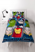 Marvel Avengers 'Tech' Reversible Rotary Single Bed Duvet Quilt Cover Set
