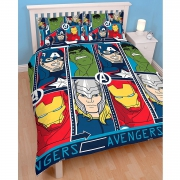 Marvel Avengers 'Tech' Reversible Rotary Double Bed Duvet Quilt Cover Set