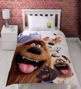 The Secret Life of Pets 'Animals' Reversible Panel Single Bed Duvet Quilt Cover Set