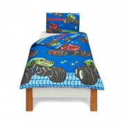 Blaze and The Monster Machines 'Vroom' Reversible Rotary Single Bed Duvet Quilt Cover Set