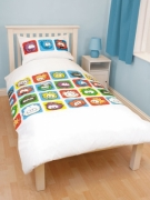 Club Penguin Arctic Rotary Single Bed Duvet Quilt Cover Set