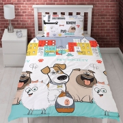 Secret Life of Pets Rotary Single Bed Duvet Quilt Cover Set