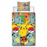 Pokemon Go Rotary Single Bed Duvet Quilt Cover Set