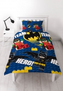 Lego Batman 'Movie' Reversible Rotary Single Bed Duvet Quilt Cover Set