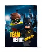 Lego Batman Movie 'Hero' Panel Fleece Blanket Throw