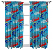 Cars 3 '' Lightning'' Pencil Pleat 66 X 54 inch Drop Curtain Pair