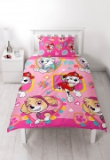 Paw Patrol 'Forever' Reversible Rotary Single Bed Duvet Quilt Cover Set