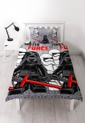 Lego Star Wars 'Seven' Rotary Single Bed Duvet Quilt Cover Set