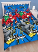 Justice League 'Inception' Reversible Rotary Double Bed Duvet Quilt Cover Set