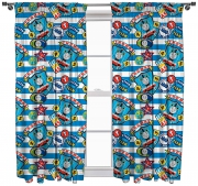 Thomas 'Patch' Pencil Pleat 66 X 54 inch Drop Curtain Pair