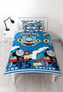 Thomas & Friends 'Patch' Reversible Rotary Single Bed Duvet Quilt Cover Set