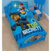 Paw Patrol 'Spy' Top Secret Panel Junior Cot Bed Duvet Quilt Cover Set