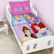 Disney Princess Dare To Dream Panel Junior Cot Bed Duvet Quilt Cover Set