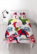 Avengers 'Mission' Reversible Rotary Single Bed Duvet Quilt Cover Set