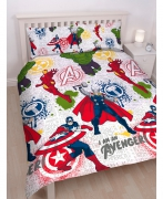 Avengers 'Mission' Reversible Rotary Double Bed Duvet Quilt Cover Set
