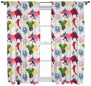 Marvel Avengers 'Mission' Pencil Pleat 66 X 54 inch Drop Curtain Pair