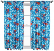 Spiderman 'Popart' 66 X 72 inch Drop Curtain Pair