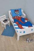 Spiderman Ultimate 'Hang' Panel Junior Cot Bed Duvet Quilt Cover Set