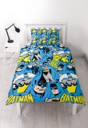Batman 'Hero' Reversible Rotary Single Bed Duvet Quilt Cover Set
