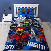 Lego Ninjago Movie 'Ninja' Reversible Rotary Single Bed Duvet Quilt Cover Set