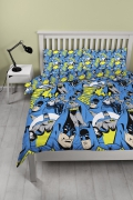 Batman 'Hero' Reversible Rotary Double Bed Duvet Quilt Cover Set