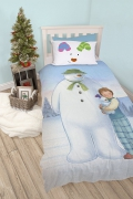 The Snowman and Snowdog Panel Single Bed Duvet Quilt Cover Set