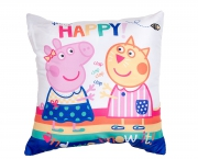 Peppa Pig Happy Square Cushion Printed