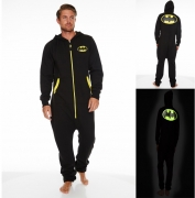Dc Comics 'Batman' Glow In The Dark Hooded Mens Large Jumpsuit