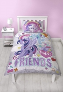 My Little Pony Crush Purple Reversible Panel Single Bed Duvet Quilt Cover Set