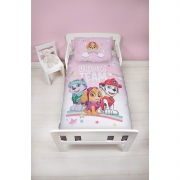 Paw Patrol Pastels Panel Junior Cot Bed Duvet Quilt Cover Set