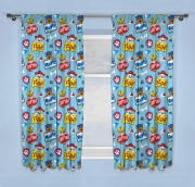 Paw Patrol Peek Blue 66 X 72 inch Drop Curtain Pair