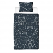 Star Wars 'Stellar' Reversible Rotary Single Bed Duvet Quilt Cover Set
