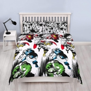 Marvel Comics Crop Reversible Design Rotary Double Bed Duvet Quilt Cover Set