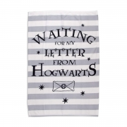 Harry Potter Grey White Hogwarts Panel Fleece Blanket Throw