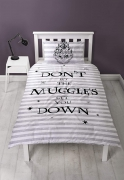 Harry Potter Spell Don't Let The Muggles Panel Single Bed Duvet Quilt Cover Set