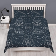 Star Wars Stellar Reversible Rotary Double Bed Duvet Quilt Cover Set