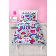 JoJo Siwa Dream Bows Reversible 2 Sided Kids Rotary Single Bed Duvet Quilt Cover Set