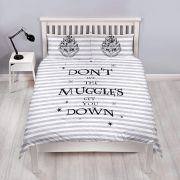 Harry Potter Spell Don't Let The Muggles Panel Double Bed Duvet Quilt Cover Set