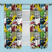 Marvel Comics Scribble 66 X 54 inch Drop Curtain Pair