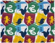 Harry Potter House Stickers Rotary Fleece Blanket Throw
