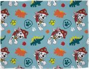 Paw Patrol Dino Blue Mighty Dinosaur Design Rotary Fleece Blanket Throw