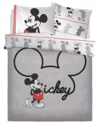 Disney Mickey Mouse 'Jersey' Panel Double Bed Duvet Quilt Cover Set