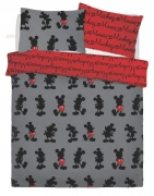 Disney Mickey Mouse Pops of Red' Rotary Double Bed Duvet Quilt Cover Set