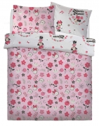 Disney Minnie Mouse 'Floral Wink' Rotary Double Bed Duvet Quilt Cover Set